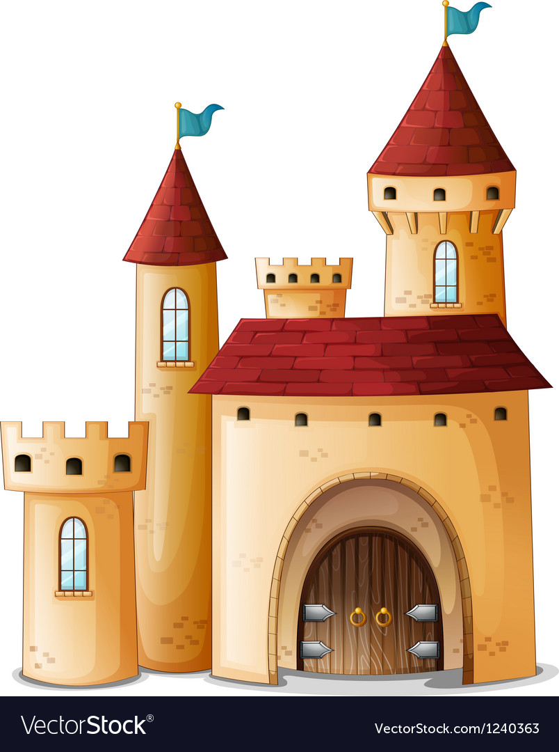 A beautiful palace vector image