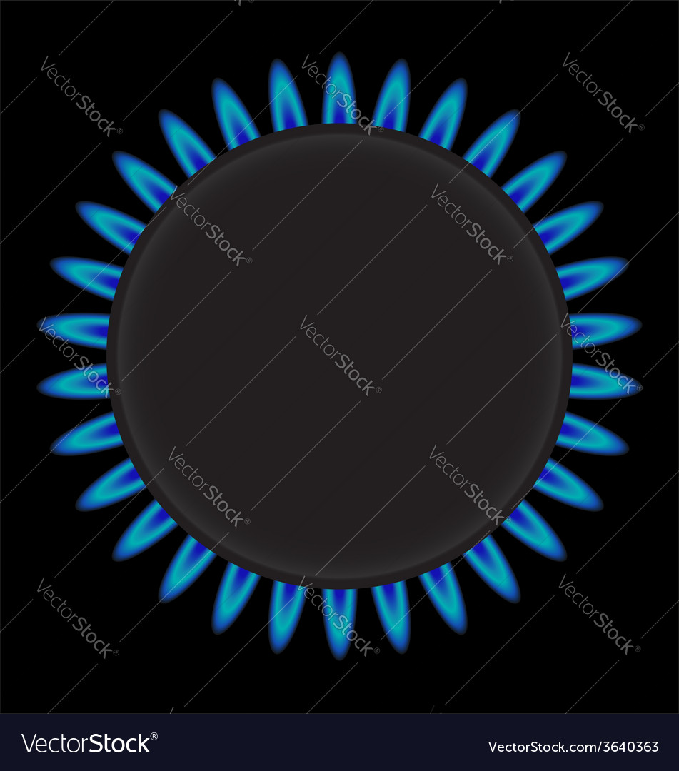 Burning gas ring stove vector image