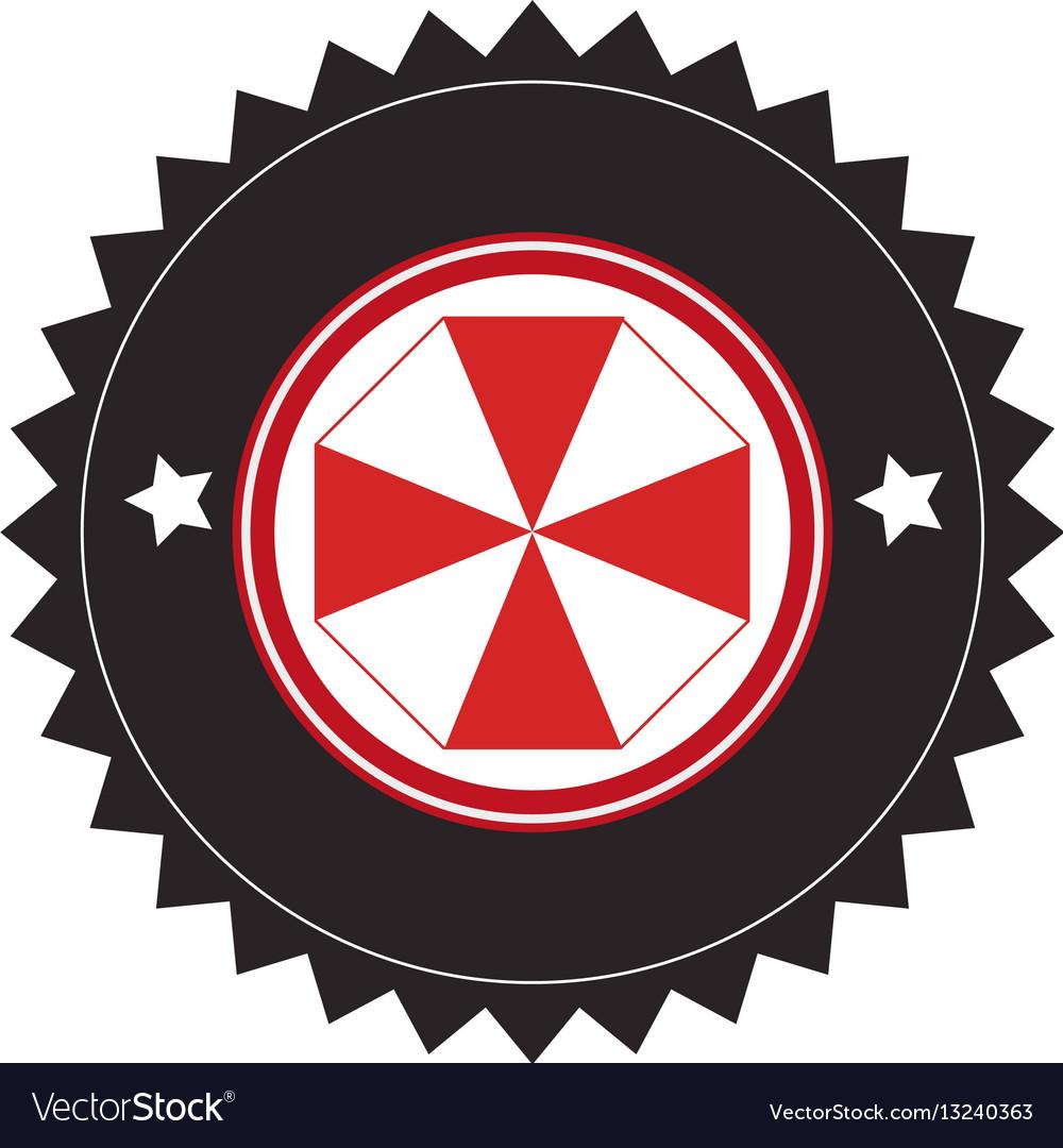 Elegant frame emblem icon