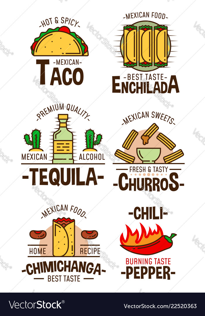 Mexican fast food snacks and desserts