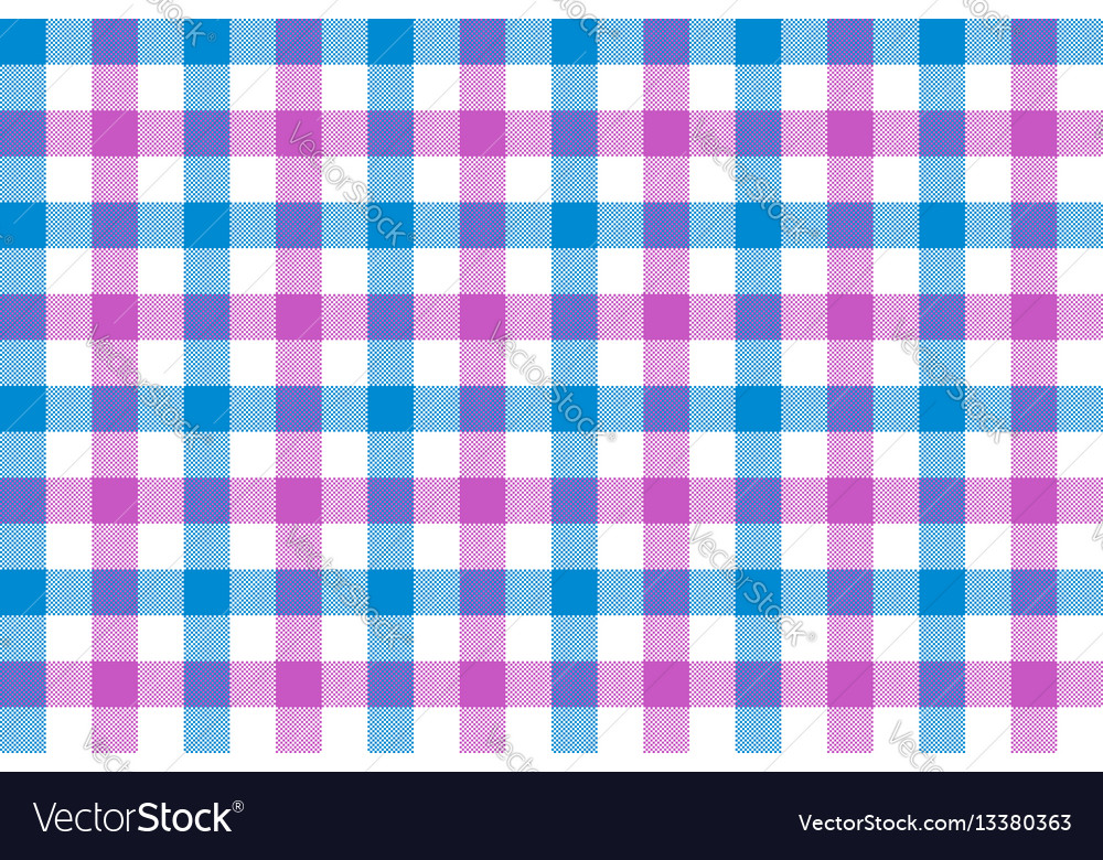 Pink blue check fabric texture background