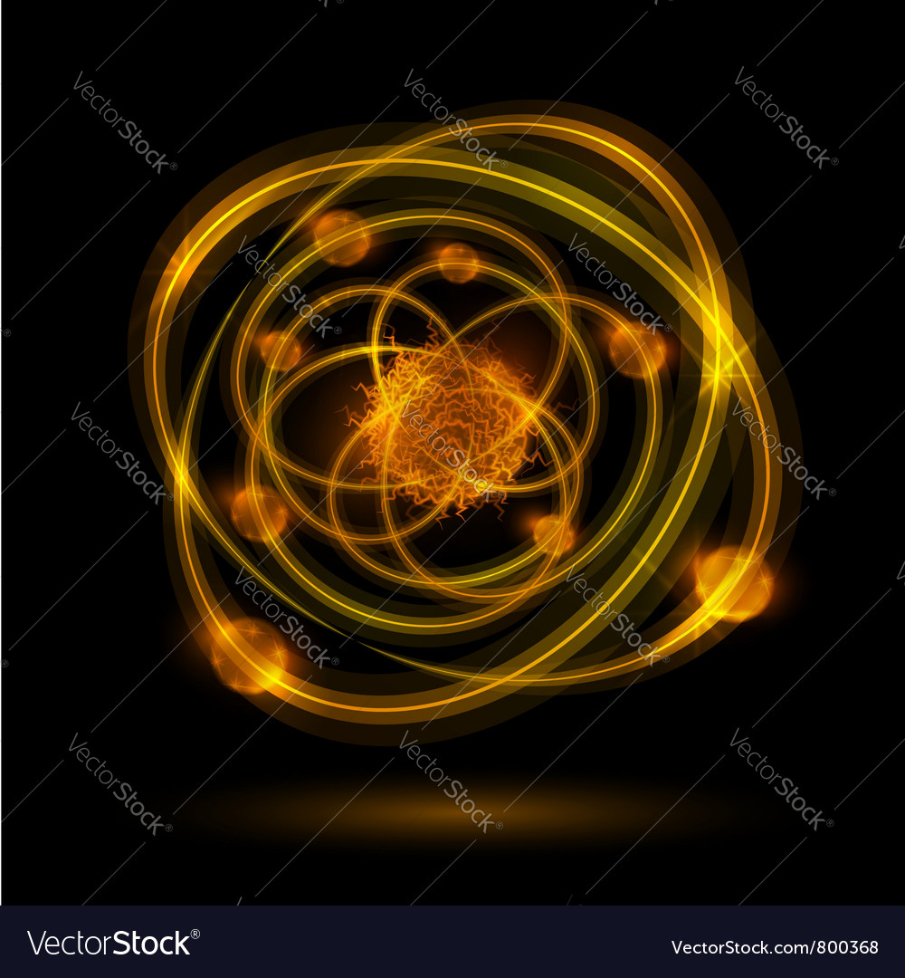 Abstract atom vector image