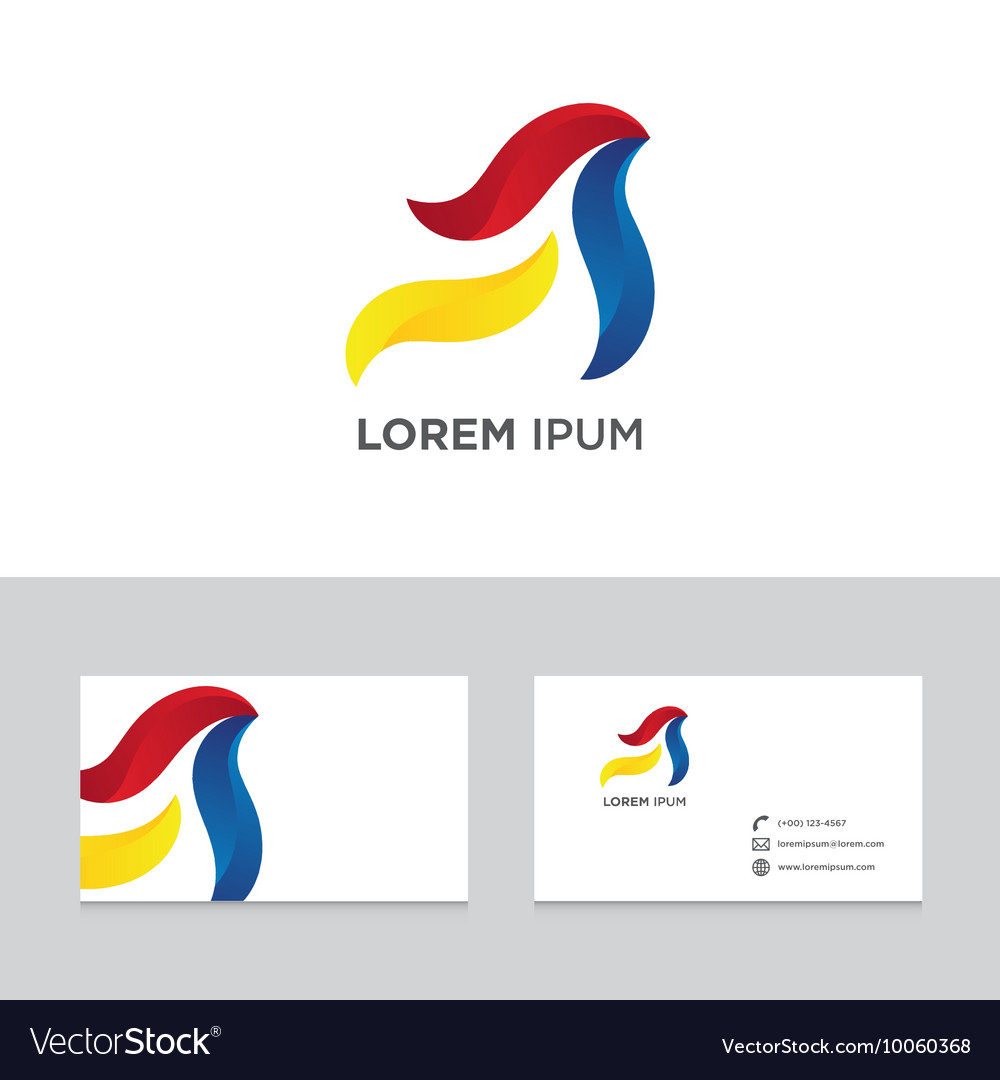 Abstract logo icon design business card template