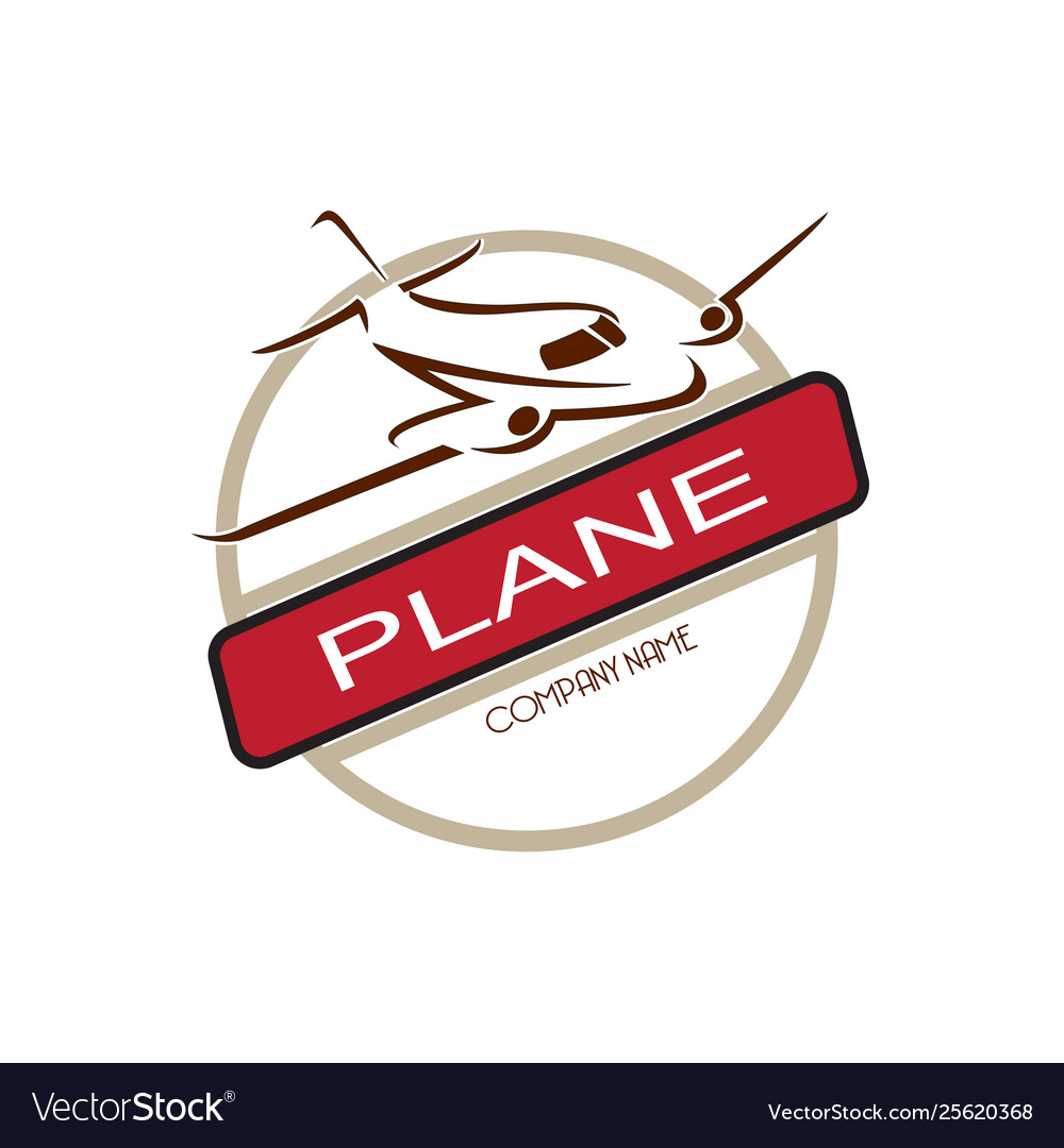 Airplane travel logo