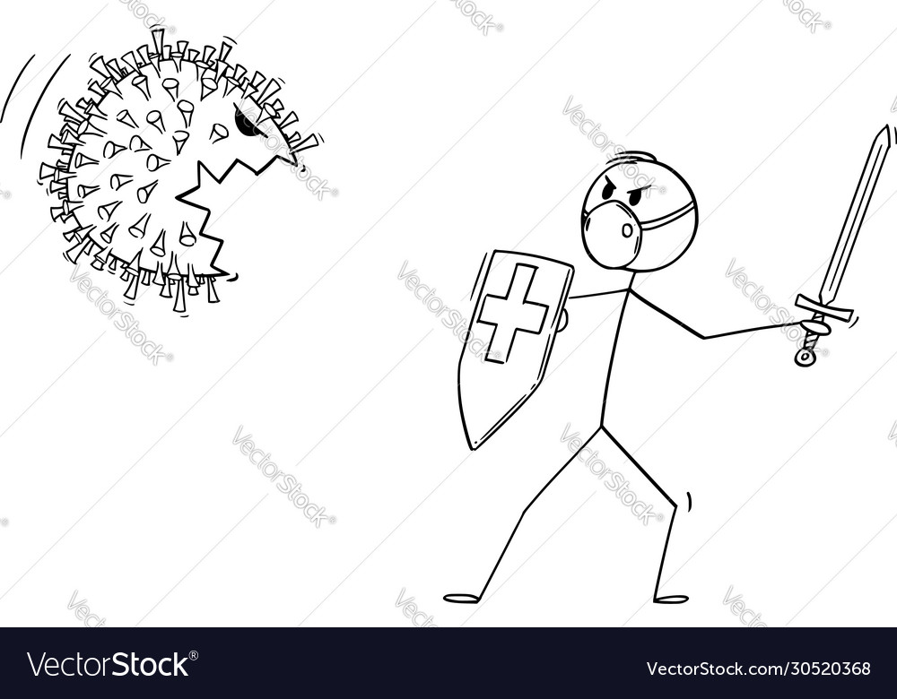 Cartoon medical staff or doctor or medic