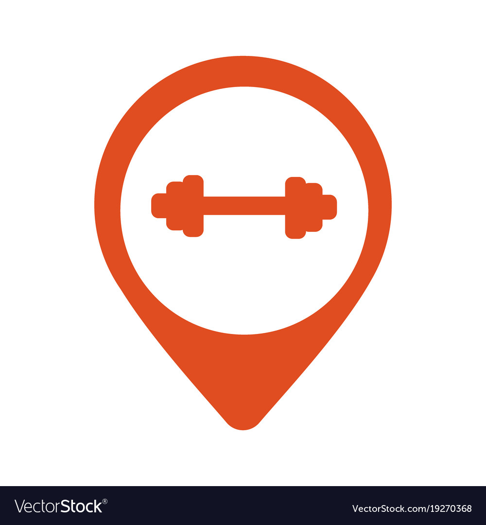 Colorful round gym markers vector image