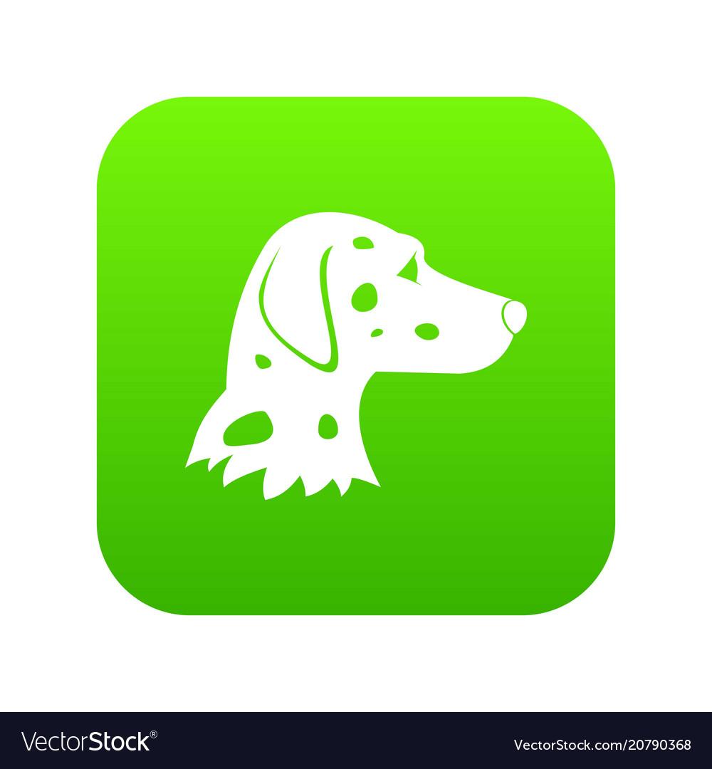 Dalmatians dog icon digital green