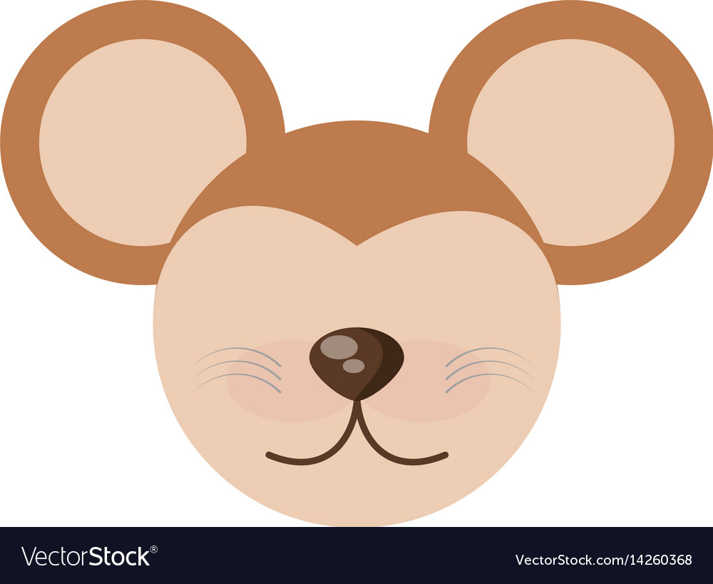 Head cute mouse animal image vector image
