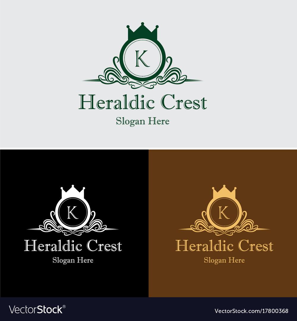Heraldic crest logo