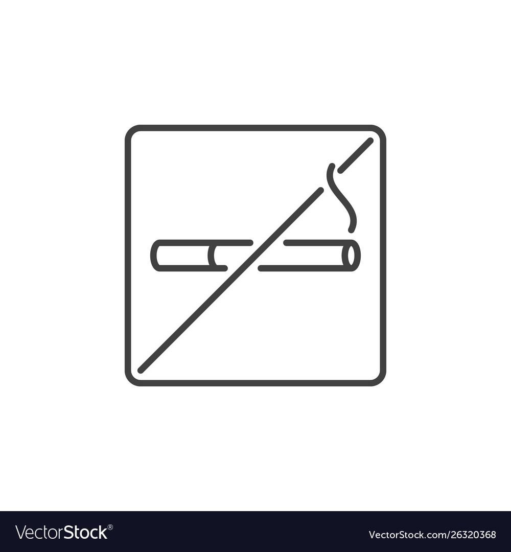 No smoking outline concept icon stop
