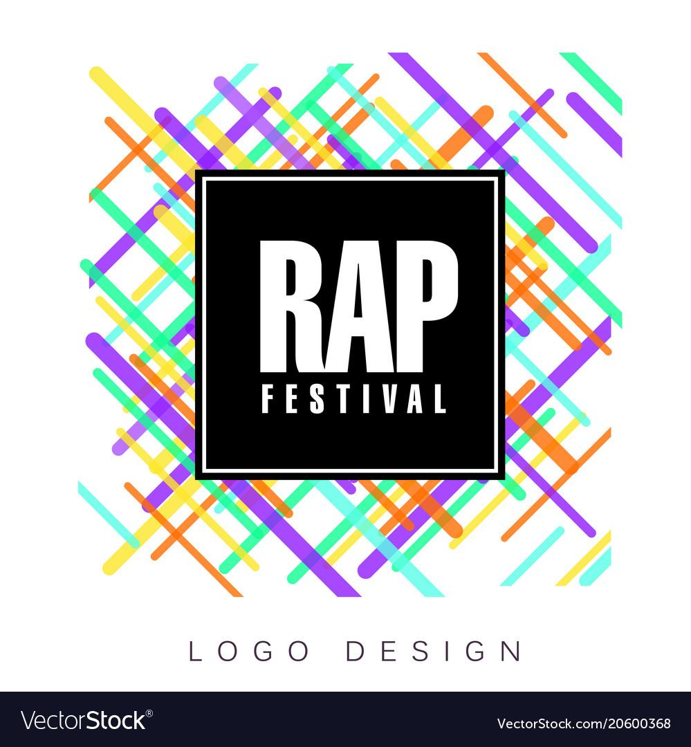 rap festival logo colorful creative banner vector image