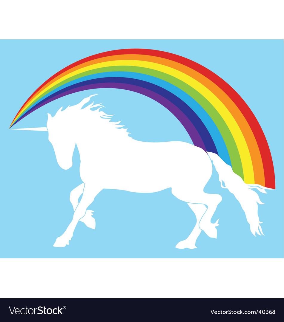 Unicorn with rainbow vector image