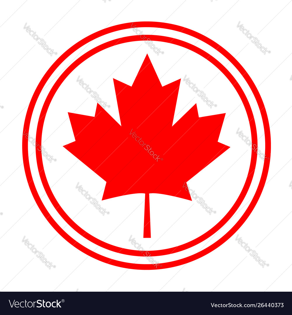 Canadian Maple Red Leaf Logo Symbol Sign Icon