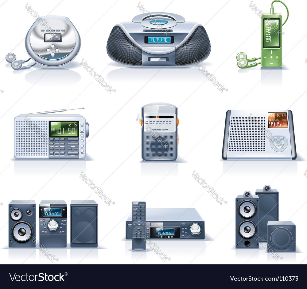 Household appliance icons vector image