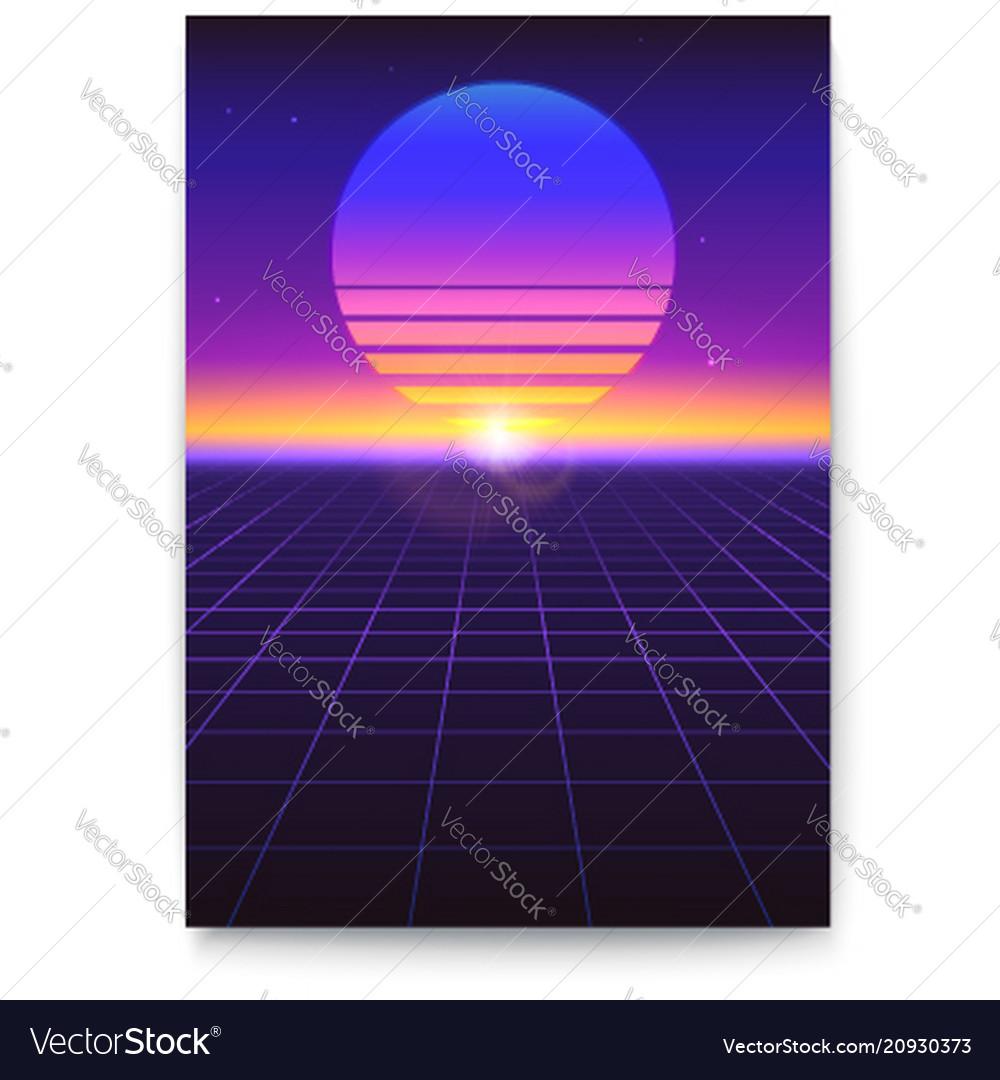 Retro futuristic covers abstract digital
