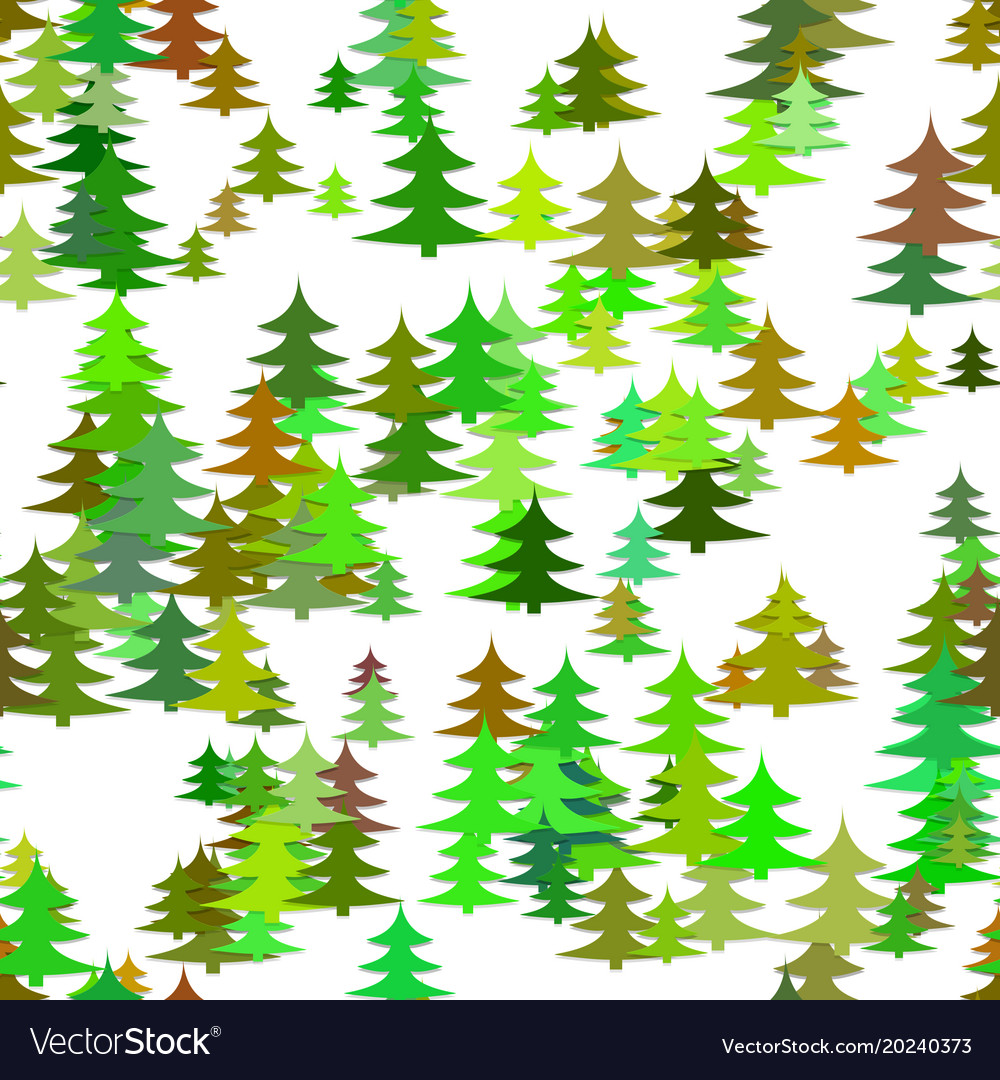 Seamless chaotic winter holiday background - pine