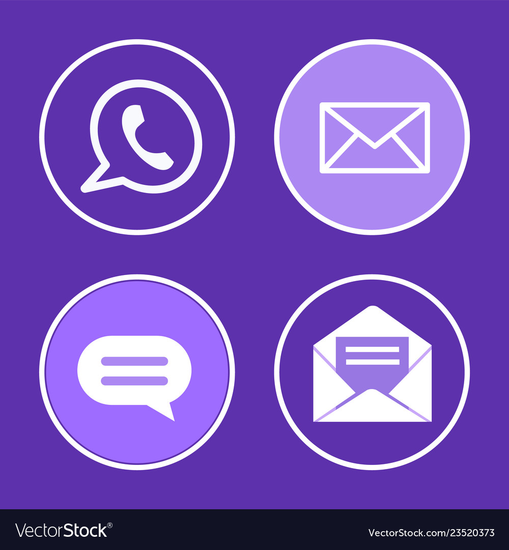 Social network phone set icons