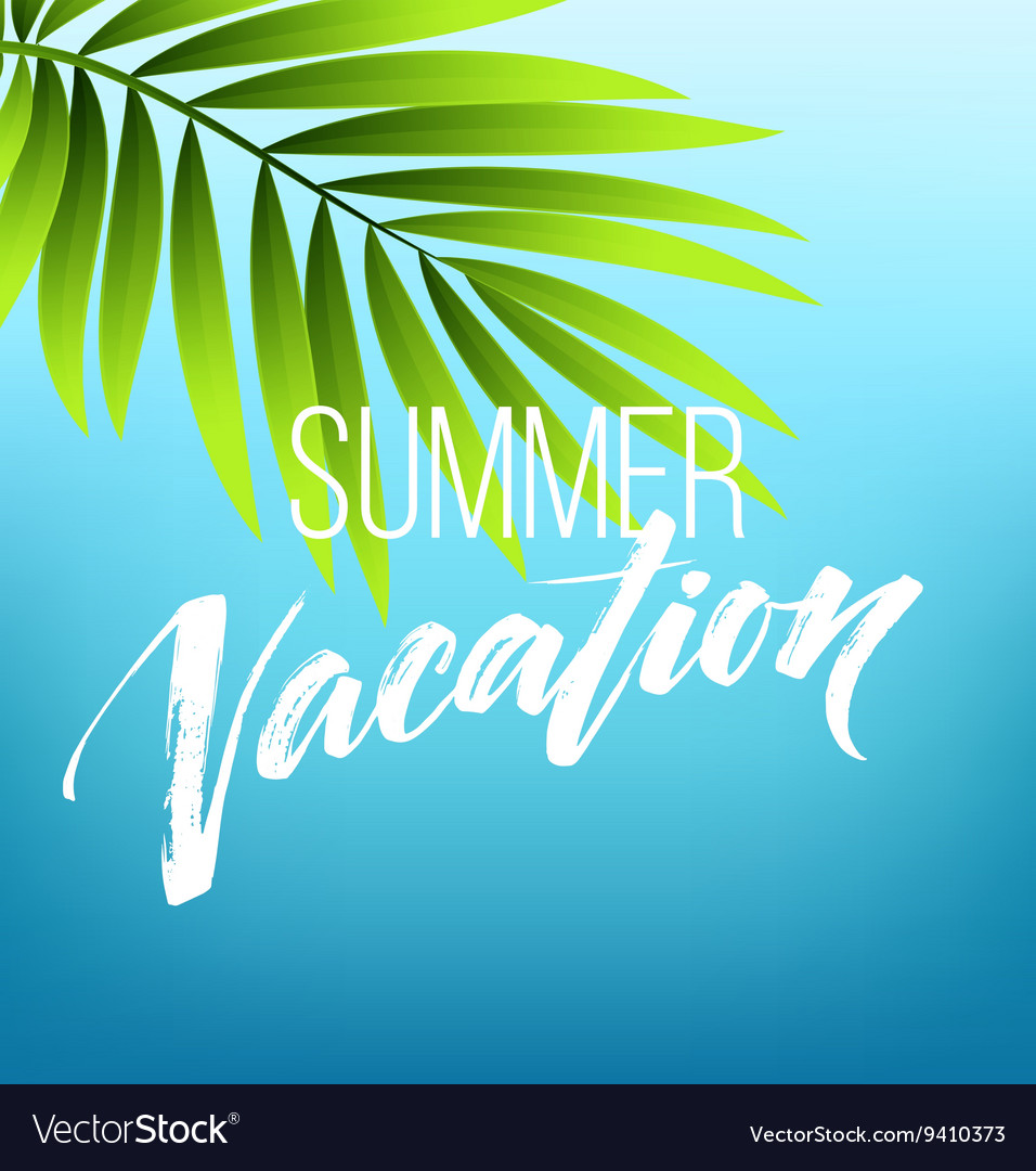 Summer vacation handwriting typography lettering