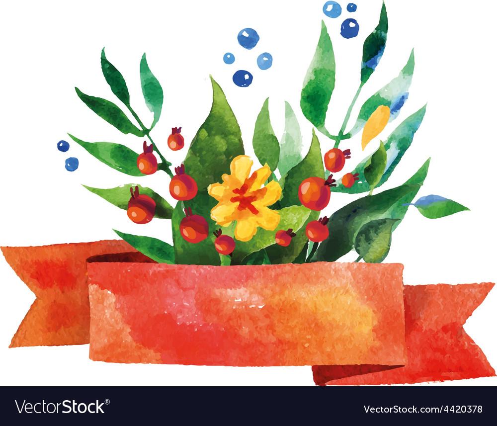 Beautiful Floral Greeting Card Bright