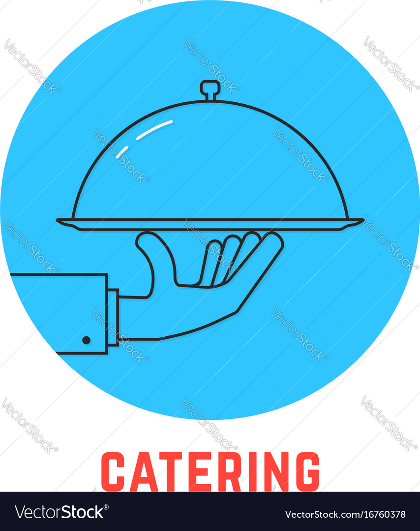 Blue round catering logo