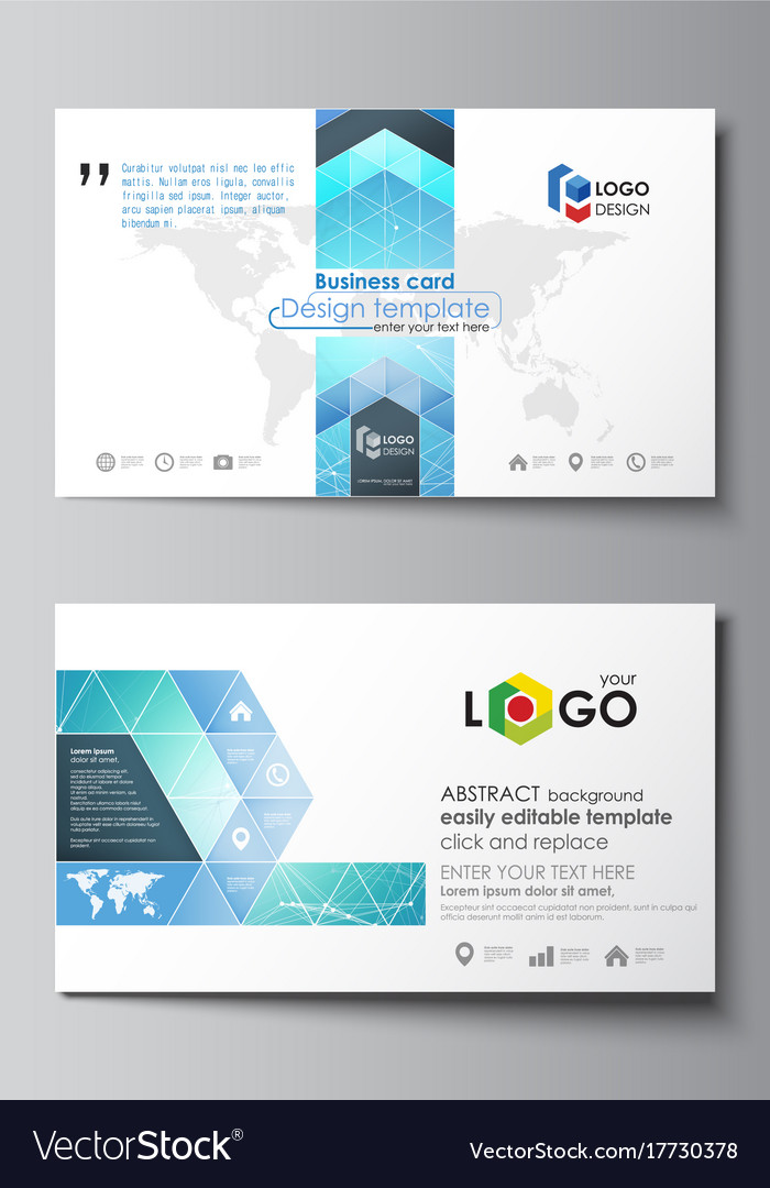 Business card templates easy editable layout vector image wajeb Choice Image