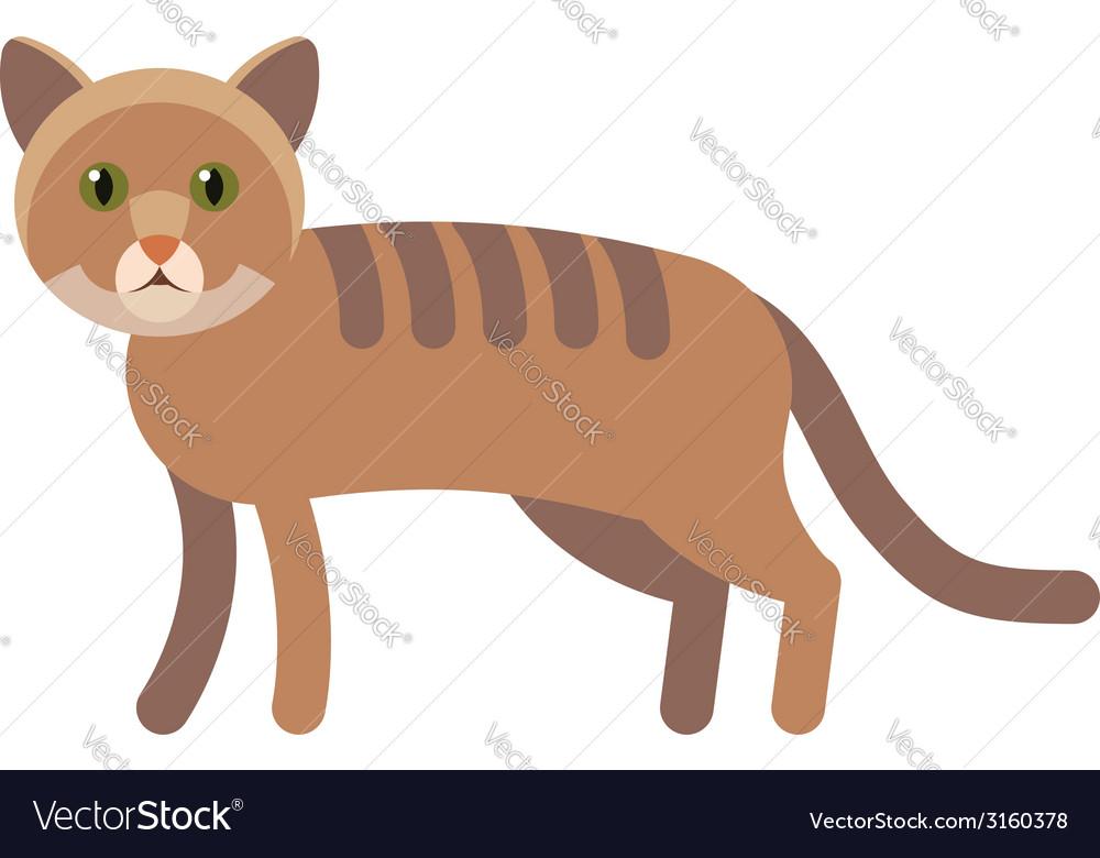 Cat flat icon vector image