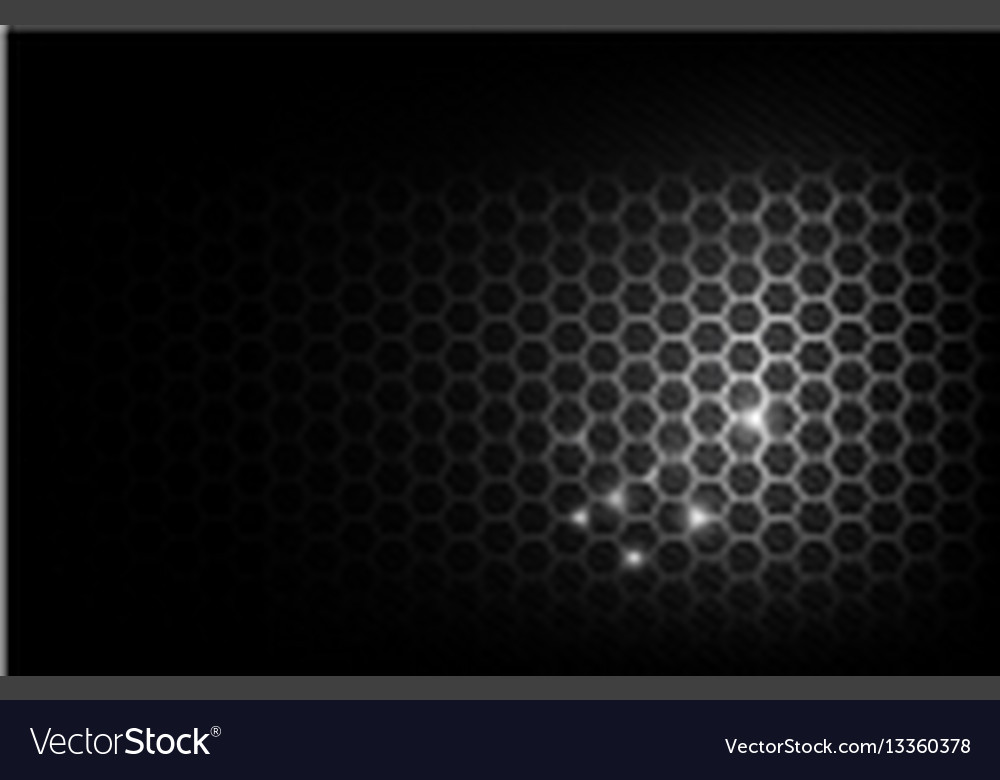 Dark and black with metal honeycomb pattern