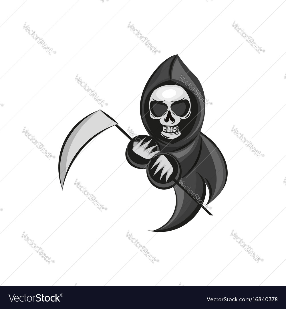 Death sign isolated on white vector image