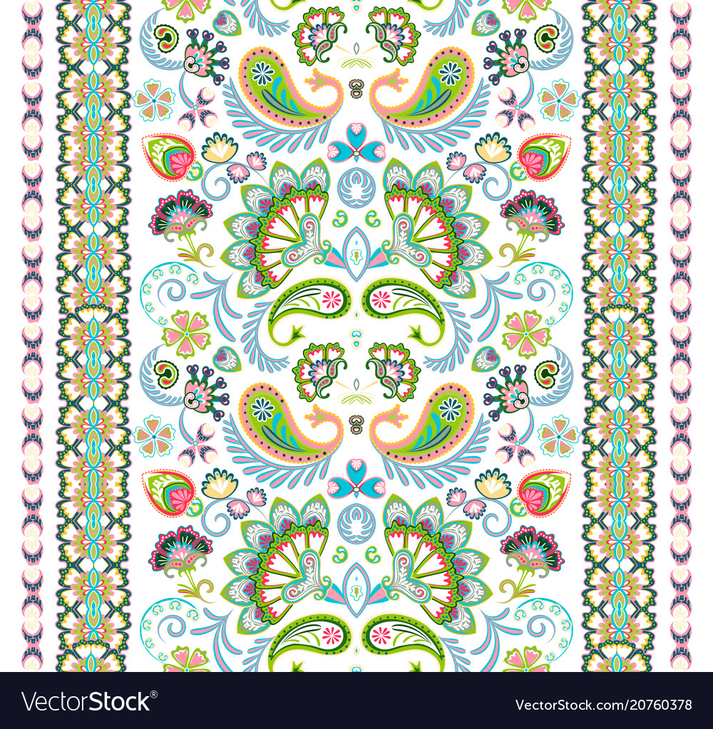 Indian Seamless Pattern Wallpaper With Paisley