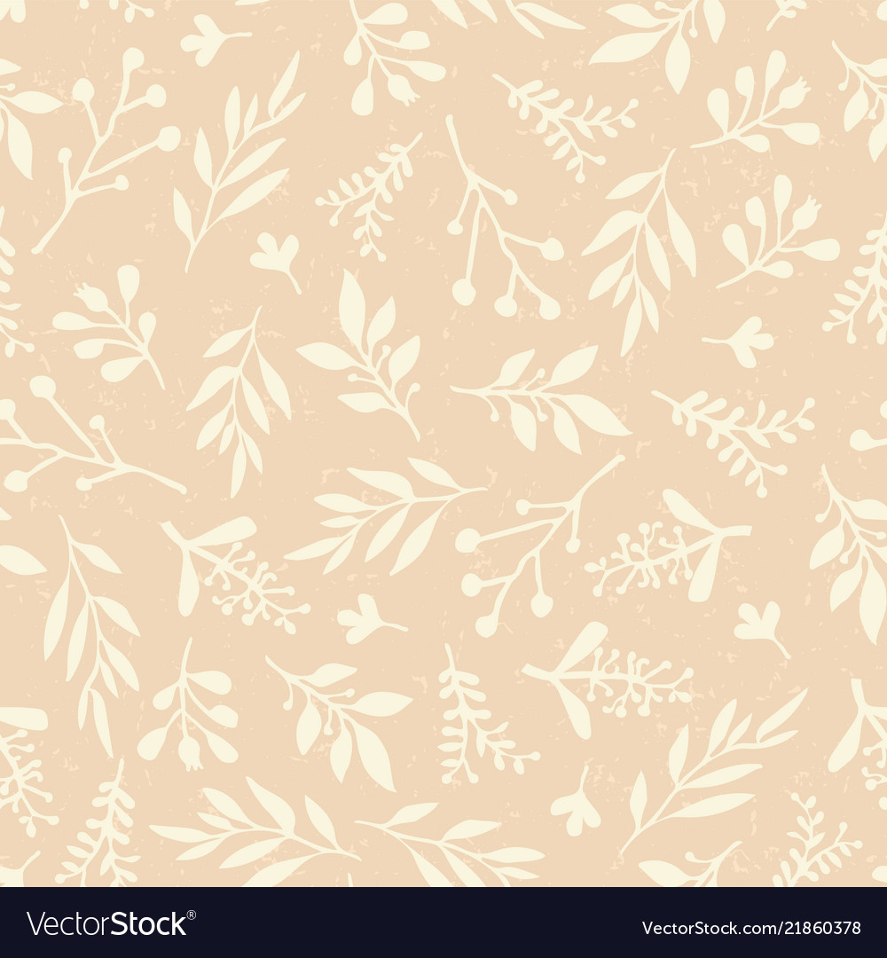 Seamless background abstract leaves beige