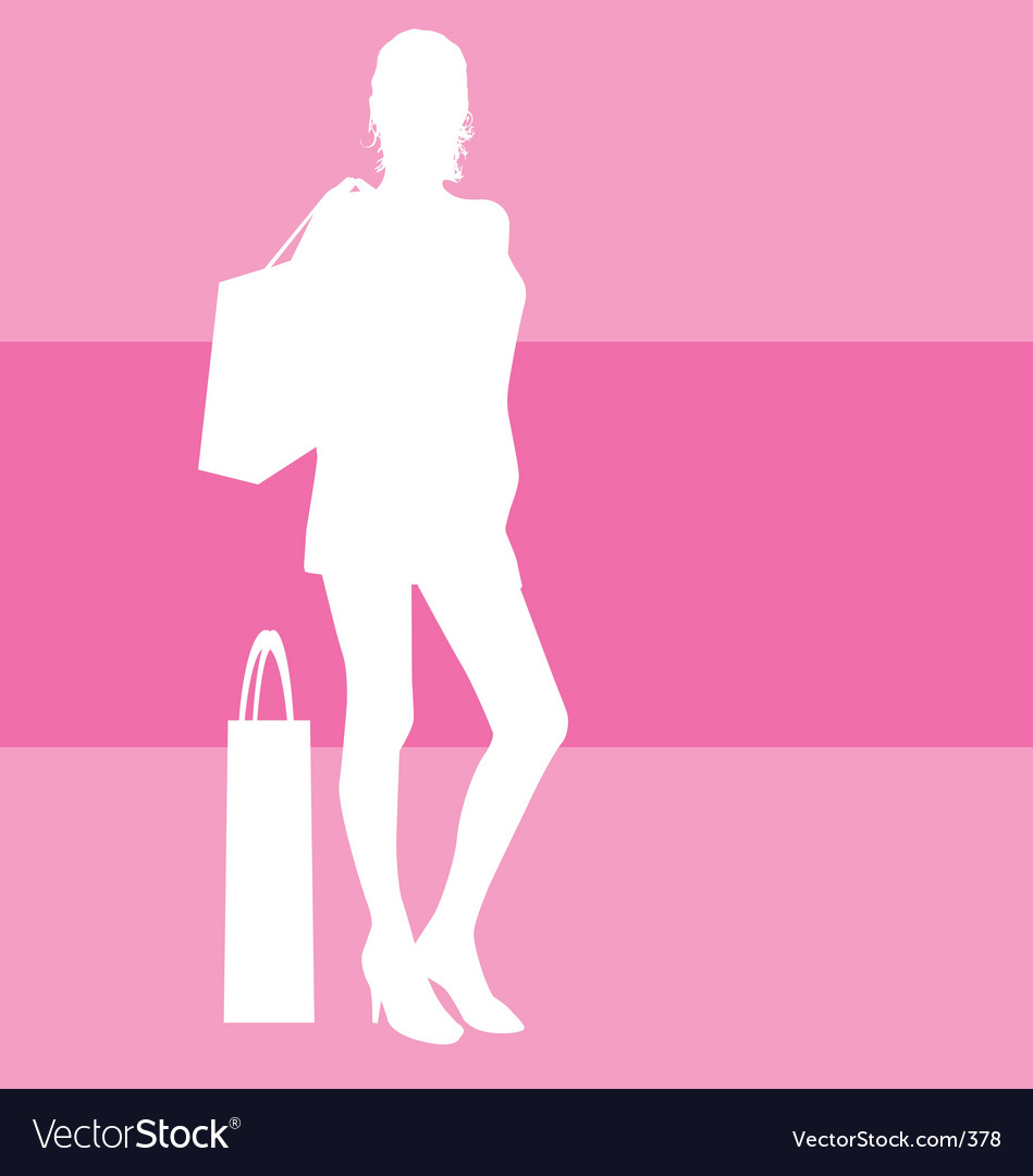 Shopping silhouette vector image