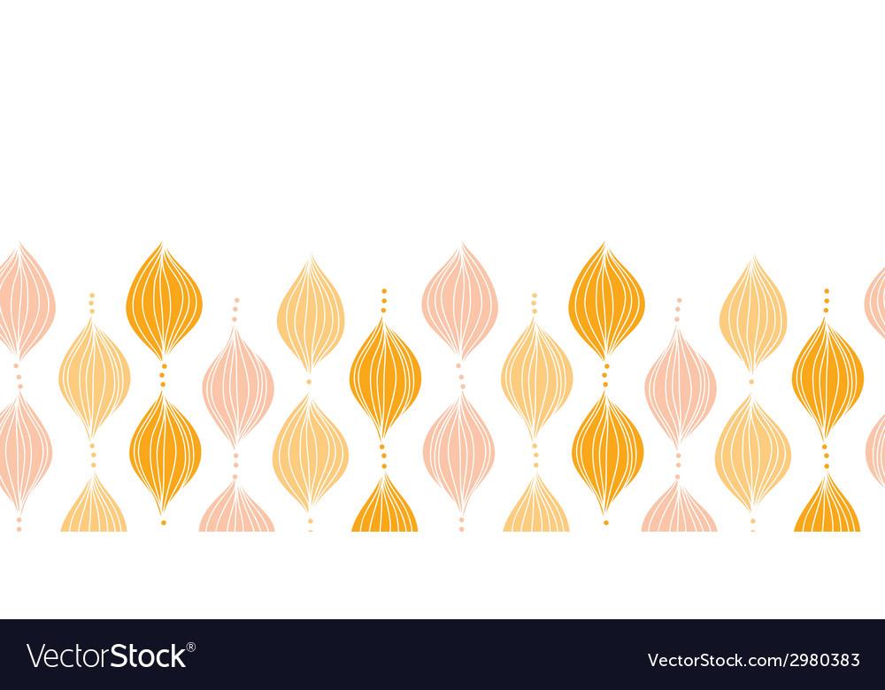 Abstract golden ogee horizontal border seamless