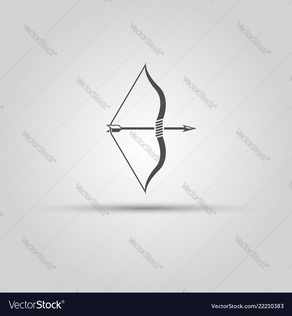 Bow and arrow isolated icon