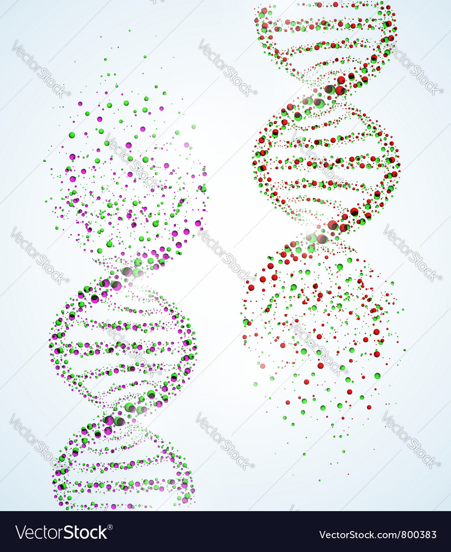 Dna structure destruction vector image