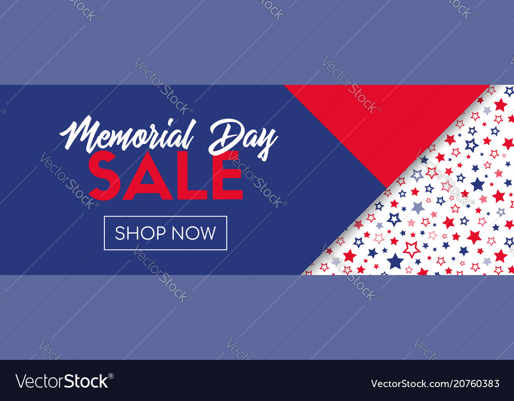 Memorial day sale banner template