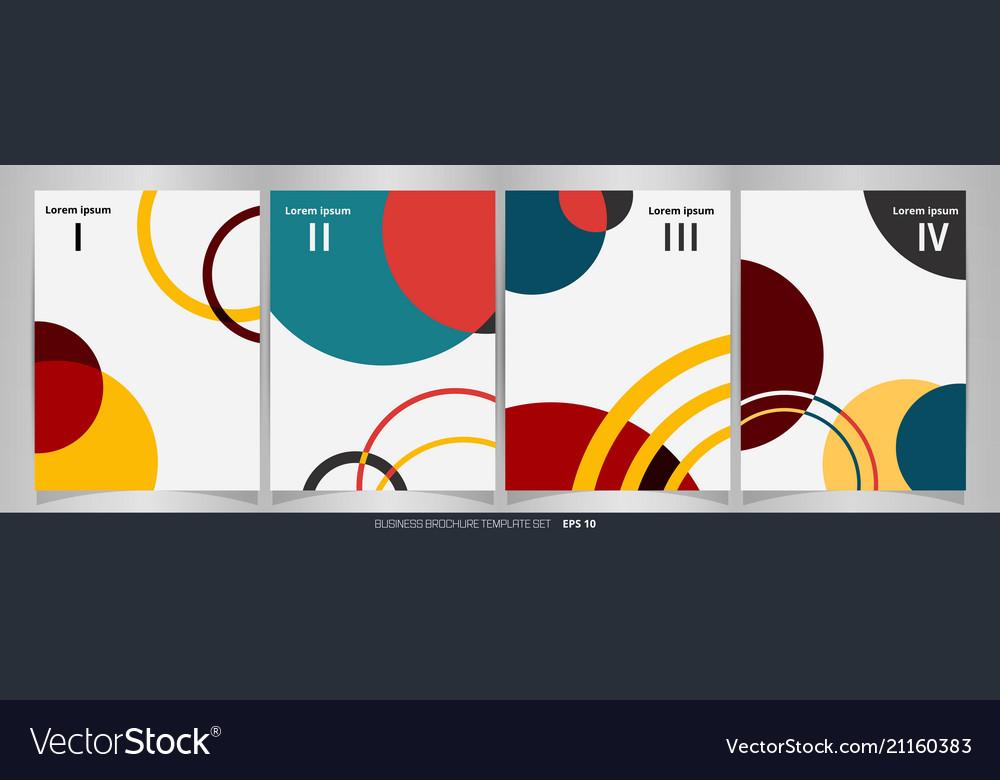 Modern of colorful brochure set wih 4 units