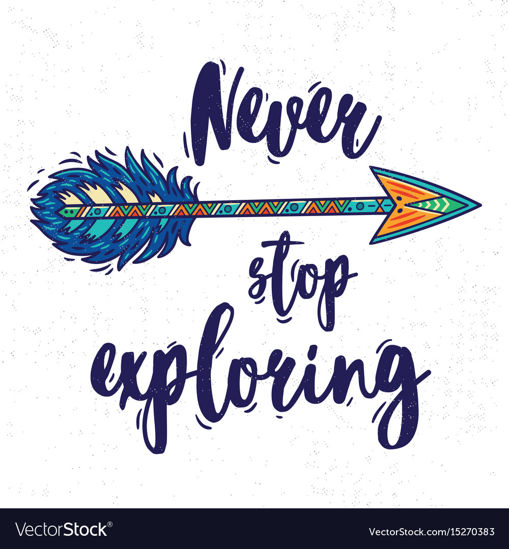 Motivational card with tribal ethnic arrow