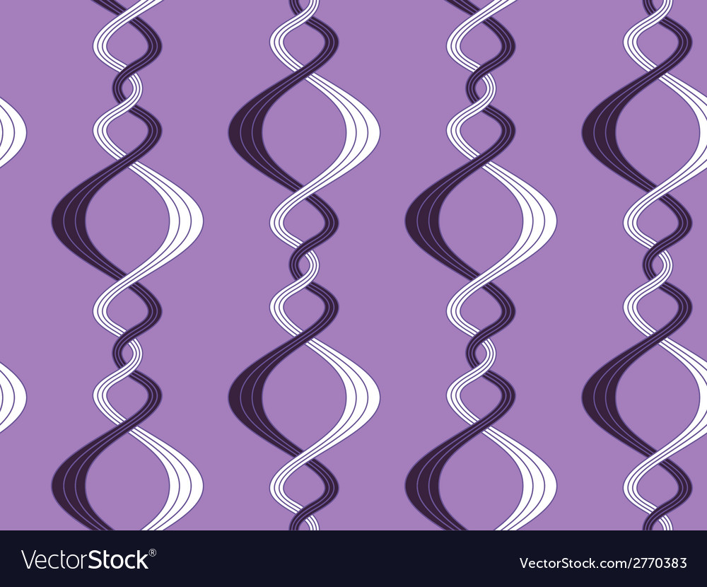 Pattern of curvy lines vector image