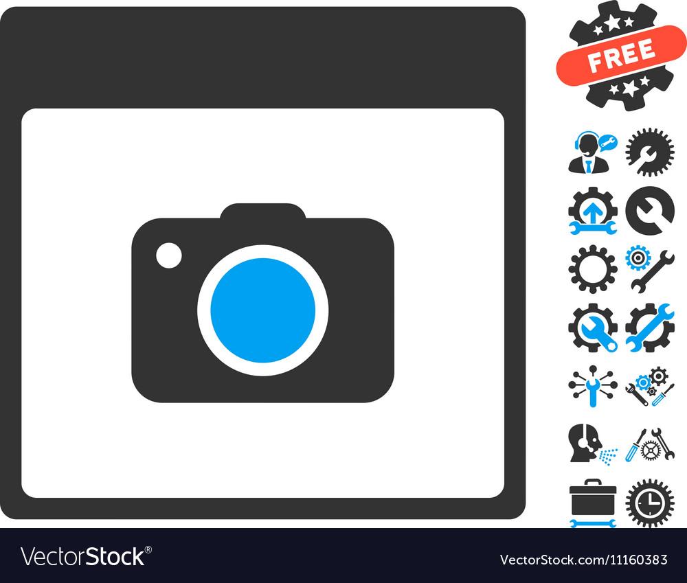 Photo Camera Calendar Page Icon With Bonus