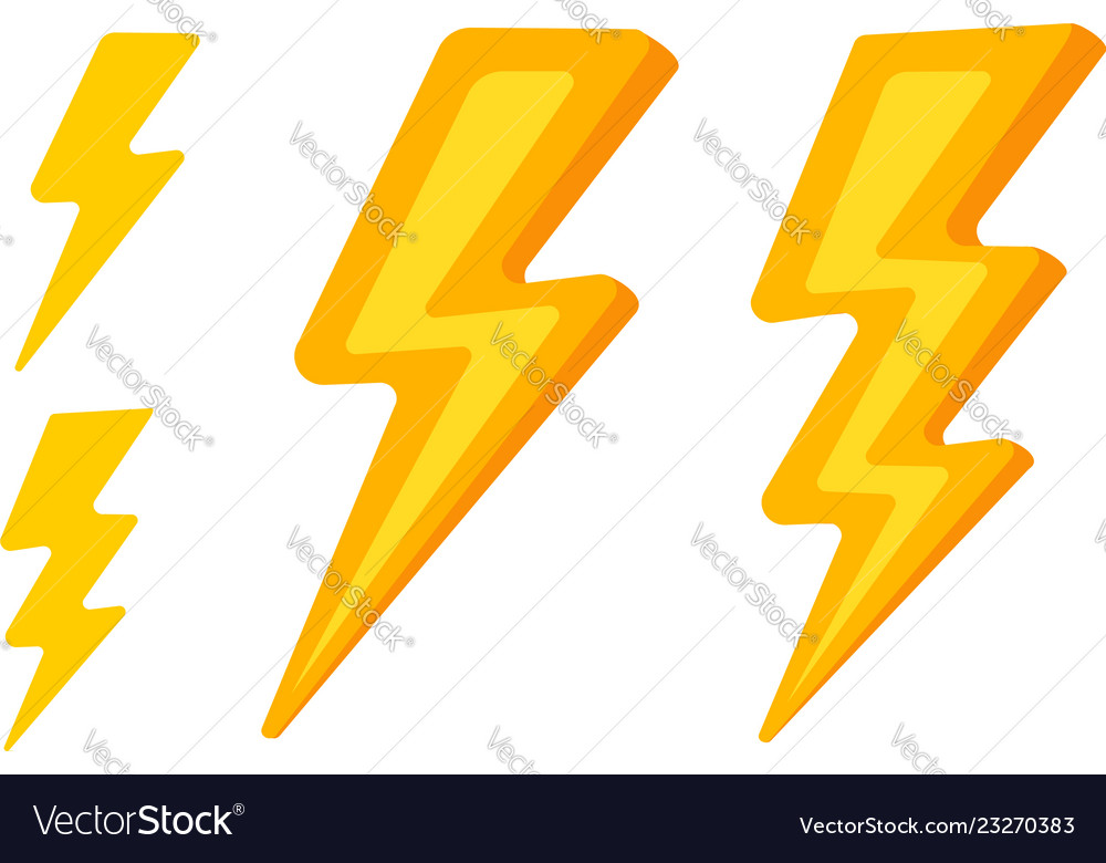 Set lightning icons