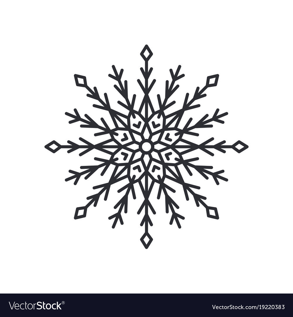 Snowflake Silhouette Colorless Royalty Free Vector Image Snowflake silhouette drawing free image/png, resolution: vectorstock