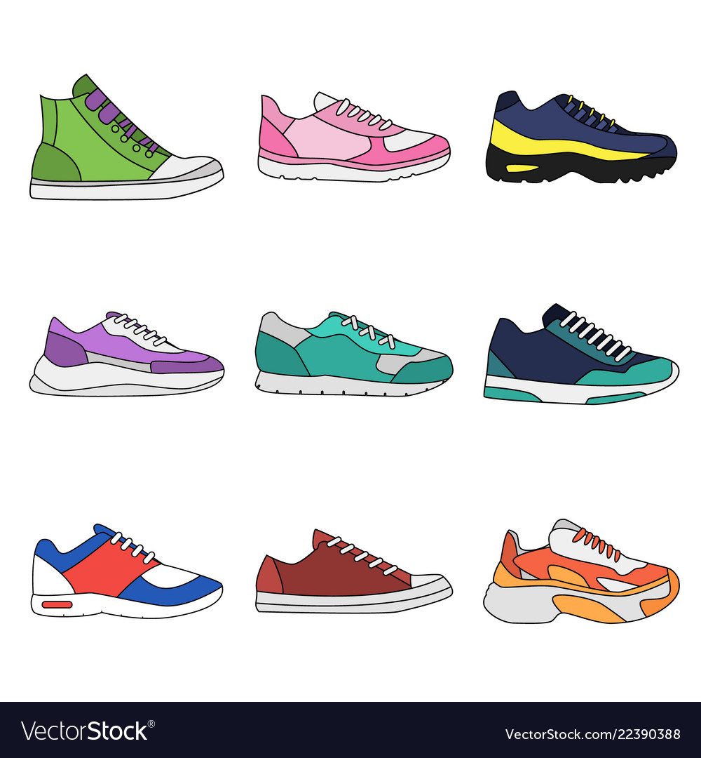 modern sneakers for everyday Vector Image