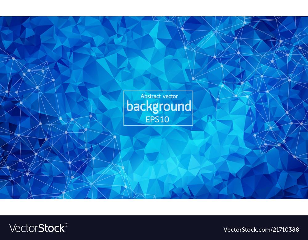 Geometric polygonal background molecule and