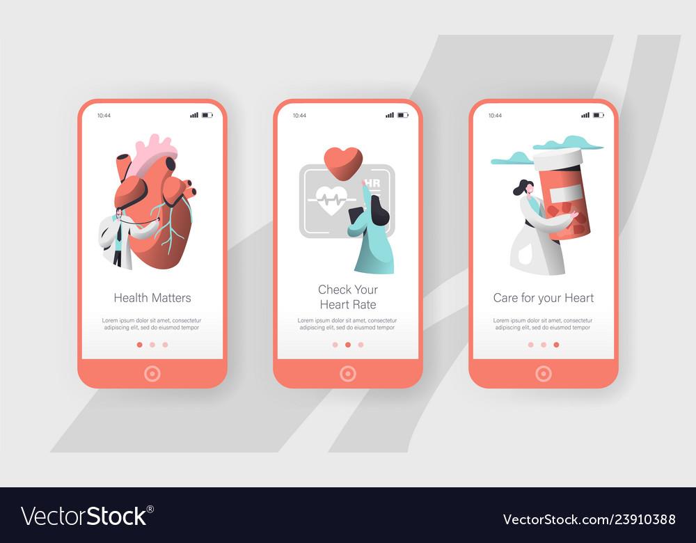 Hospital cardiology care heart health mobile app