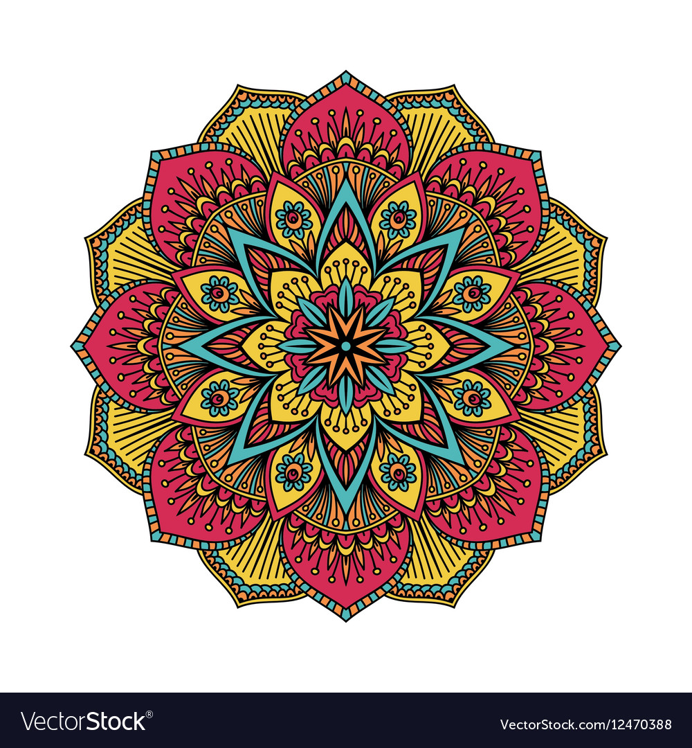 Mandala pattern flower