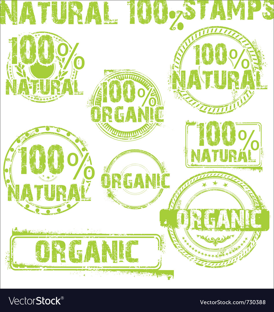 Natural - grunge stamps vector image