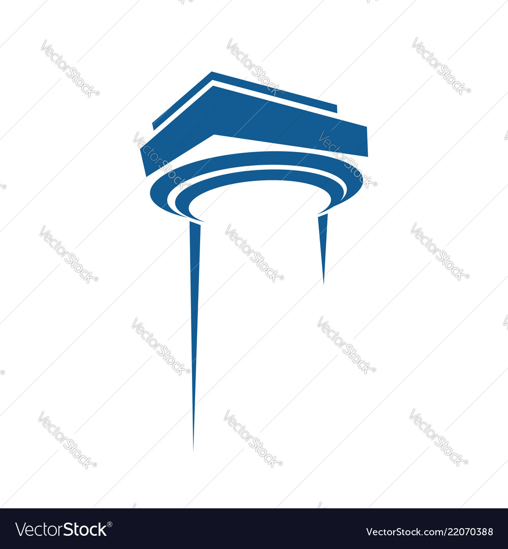 Pillar for law and firm icon logo element
