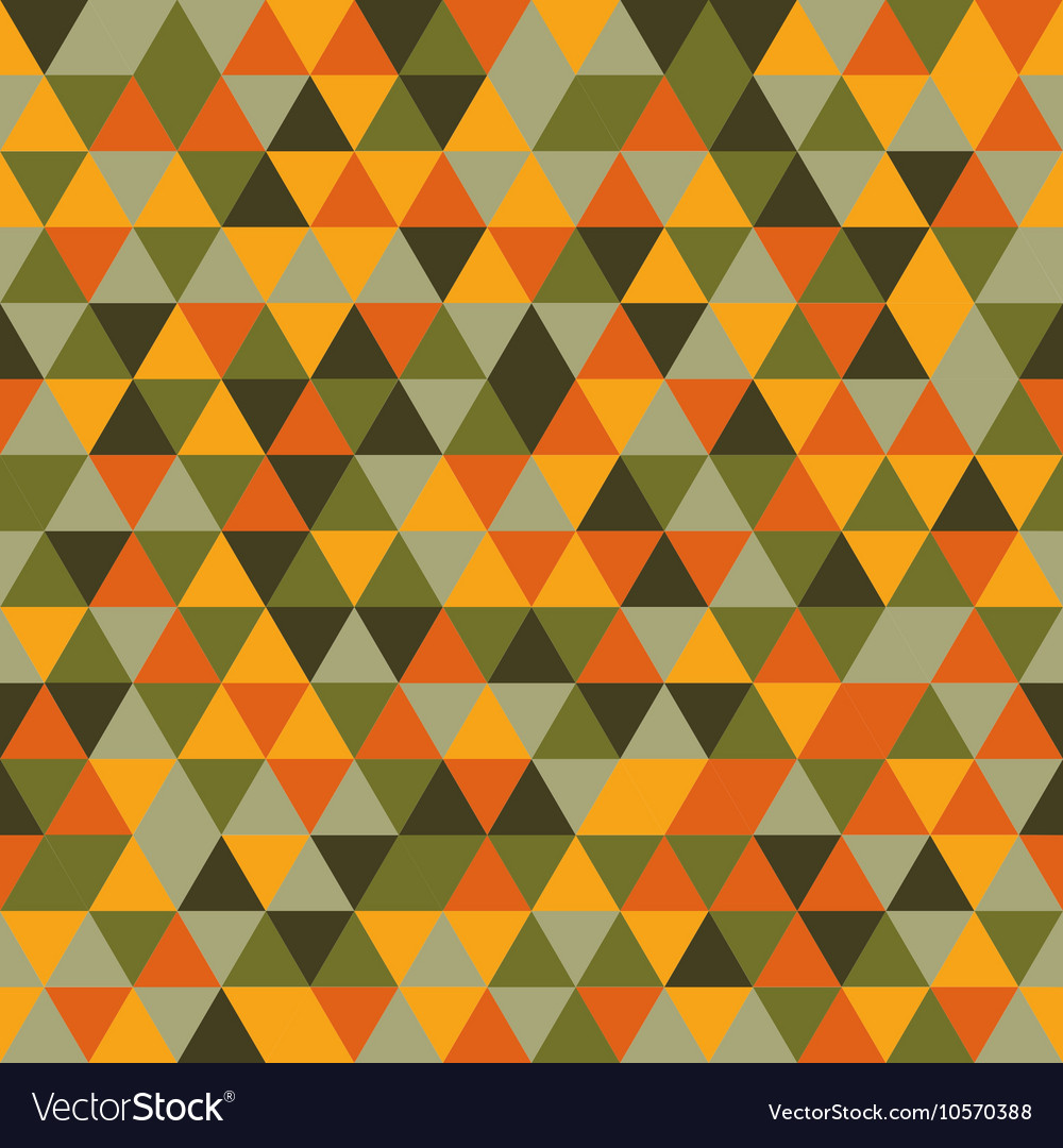Seamless color triangles pattern