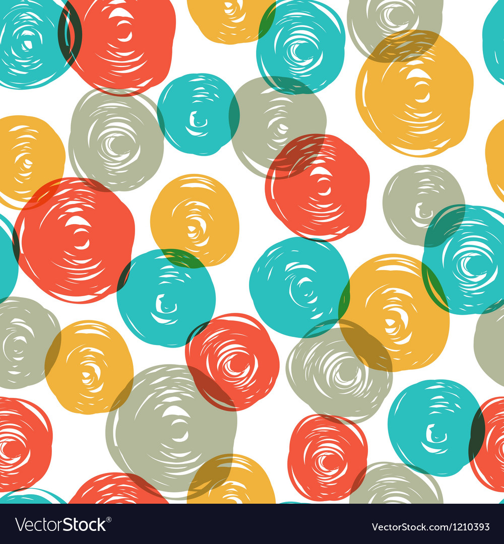 Abstract colorful retro seamless pattern balls doo vector image