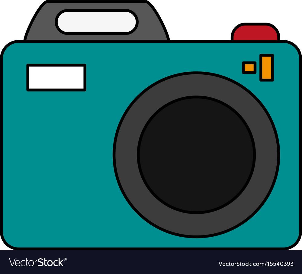 Digital photo camera vector image